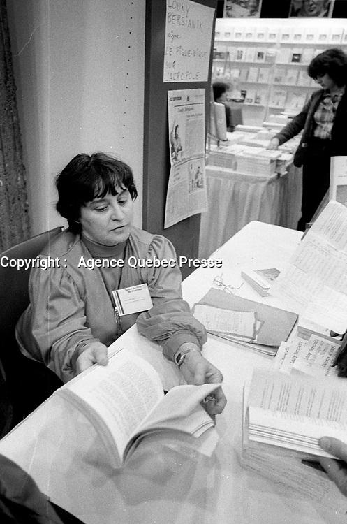 Undated  File Photo taken betwen 1970 and 1977  -  Montreal, Quebec. CANADA -  <br /> Salon du Livre