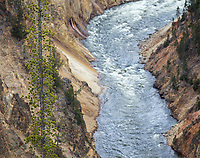 A view of the Yellowstone River from Artist Point.