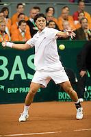 19-9-08, Netherlands, Apeldoorn, Tennis, Daviscup NL-Zuid Korea, Seccond rubber    KyuTae Im