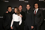 "Brandon Uranowitz, Keri Russell, Michael Mayer, David Furr and Adam Driver attends the Broadway Opening Celebration for Landford Wilson's ""Burn This""  at Hudson Theatre on April 15, 2019 in New York City."