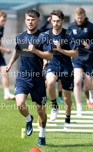 St Johnstone Training….23.07.18<br />New signing Matty Kennedy pictured during training at McDairmid Park this morning ahead of tomorrow night's Betfred cup game against Falkirk.<br />Picture by Graeme Hart.<br />Copyright Perthshire Picture Agency<br />Tel: 01738 623350  Mobile: 07990 594431