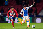 Diego Rico Salguero (R) of CD Leganes battles for the ball with Angel Correa of Atletico de Madrid during the La Liga 2017-18 match between Atletico de Madrid and CD Leganes at Wanda Metropolitano on February 28 2018 in Madrid, Spain. Photo by Diego Souto / Power Sport Images