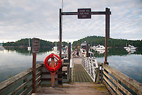 Dock at Prevost Harbor, Stuart Island, San Juan Islands, Washington, US