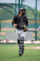 Pittsburgh Pirates Raul Hernandez (32) during a Minor League Spring Training Intrasquad game on March 31, 2018 at Pirate City in Bradenton, Florida.  (Mike Janes/Four Seam Images)