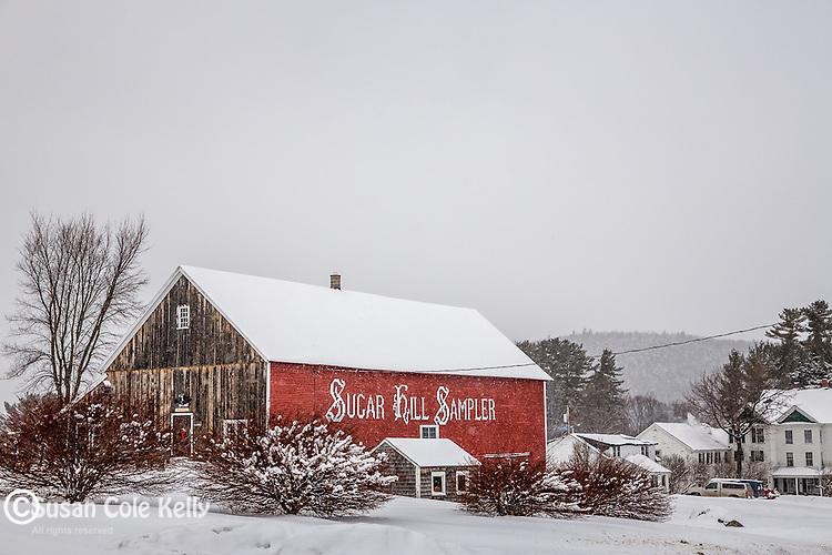Winter scene in the White Mountains, Sugar Hill, New Hampshire, USA