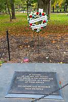 Vietnam Memorial, Plaque Honoring those who died of Exposure to Agent Orange, Washington, DC, USA.