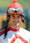 10 April 10: Jockey Robby Albarado on Arkansas Derby Day at Oaklawn Park in Hot Springs, Arkansas.