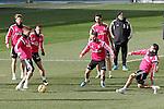 Real Madrid's Asier Illarramendi, Sergio Ramos, Jese Rodriguez, Nacho Fernandez, Alvaro Arbeloa and Daniel Carvajal during training session.January 30,2015.(ALTERPHOTOS/Acero)