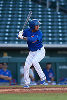AZL Cubs 1 Pedro Martinez (11) at bat during an Arizona League game against the AZL Athletics Gold at Sloan Park on June 20, 2019 in Mesa, Arizona. AZL Athletics Gold defeated AZL Cubs 1 21-3. (Zachary Lucy/Four Seam Images)