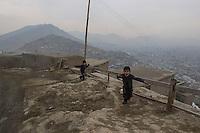 Boys on TV Mountain overlooking Kabul 12-1-14