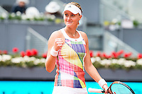 French Kristina Mladenovic during Doubles Woman Final Mutua Madrid Open Tennis 2016 in Madrid, May 07, 2016. (ALTERPHOTOS/BorjaB.Hojas) /NortePhoto.com