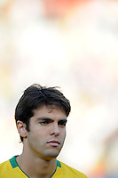 Kaka of Brazil. Brazil defeated USA 3-0 during the FIFA Confederations Cup at Loftus Versfeld Stadium in Tshwane/Pretoria, South Africa on June 18, 2009.