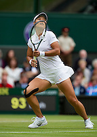 02-07-13, England, London,  AELTC, Wimbledon, Tennis, Wimbledon 2013, Day eight, Na Li (CHN)<br /> <br /> <br /> Photo: Henk Koster