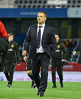 20171020 - LEUVEN , BELGIUM : Belgian head coach Ives Serneels pictured during the female soccer game between the Belgian Red Flames and Romania , the second game in the qualificaton for the World Championship qualification round in group 6 for France 2019, Friday 20 th October 2017 at OHL Stadion Den Dreef in Leuven , Belgium. PHOTO SPORTPIX.BE | DAVID CATRY
