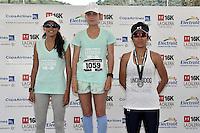 LA CALERA -COLOMBIA. 13-11-2016: Daniela Lara Bautista (C), Kamila Peña Cortes (Izq) y Paola Fierro (Der) ganadoras en la categoría 6K mujeres durante la premiación de la Carrera Under Armour 16K La Calera 2016 (16K y 6K) realizada en la población de La Calera, Colombia. / Daniela Lara Bautista (C), Kamila Peña Cortes (Izq) and Paola Fierro (R) winners of the category 6K women during the award ceremony of Under Armour Race 16K La Calera 2016 (16K and 6K) made at La Calera, Colombia. Photo: VizzorImage/ Gabriel Aponte / Staff
