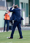 FK Trakai v St Johnstone…06.07.17… Europa League 1st Qualifying Round 2nd Leg, Vilnius, Lithuania.<br />Tommy Wright shows his frustration as he turns away from the match<br />Picture by Graeme Hart.<br />Copyright Perthshire Picture Agency<br />Tel: 01738 623350  Mobile: 07990 594431