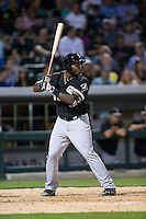 Courtney Hawkins (86) of the Chicago White Sox at bat against the Charlotte Knights at BB&T Ballpark on April 3, 2015 in Charlotte, North Carolina.  The Knights defeated the White Sox 10-2.  (Brian Westerholt/Four Seam Images)