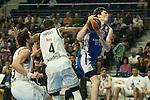 Real Madrid´s K.C. Rivers and Anadolu Efes´s Cedi Osman during 2014-15 Euroleague Basketball match between Real Madrid and Anadolu Efes at Palacio de los Deportes stadium in Madrid, Spain. December 18, 2014. (ALTERPHOTOS/Luis Fernandez)