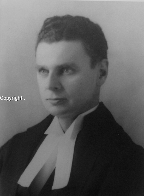 John Diefenbaker in 1929 in robes of King's Counsel<br /> <br /> <br /> PHOTO : Unknown author