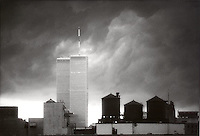 Storm over World Trade Center building<br />