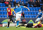 St Johnstone v Partick Thistle…13.05.17     SPFL    McDiarmid Park<br />Graham Cummins is tackled by Liam Lindsay<br />Picture by Graeme Hart.<br />Copyright Perthshire Picture Agency<br />Tel: 01738 623350  Mobile: 07990 594431