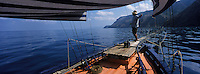 Europe/Italie/Calabre/Baganara : Pêche à l'espadon sur le Nuova Carmela avec Giuseppe Patamia et Carmelo Savoya