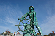 "Gloucester Fishermen""s Memorial on Stacy Boulevard in Gloucester, Massachusetts in the United States on an autumn day. The town of Gloucester was incorporated in 1642."
