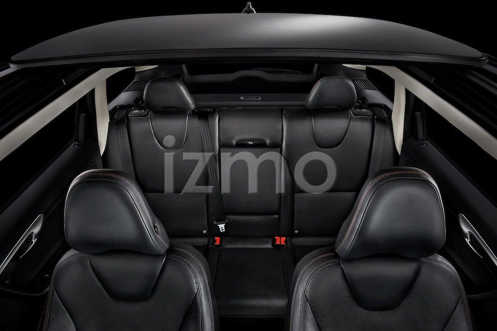 High angle interior view of a 2009 Volvo XC60