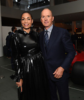 """NEW YORK CITY - OCTOBER 4: Rosario Dawson and Michael Keaton attend the red carpet premiere of Hulu's """"DOPESICK"""" at the Museum of Modern Art on October 4, 2021 in New York City. . (Photo by Frank Micelotta/Hulu/PictureGroup)"""