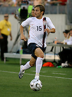 Bobby Convey looks to pass the ball. USA (0) vs Morocco (1), May 23, 2006, at The Coliseum in Nashville, Tenn.