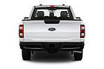 Straight rear view of 2021 Ford F-150 XL 4 Door Pick-up Rear View  stock images