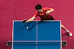 Long Ma of China vs Wong Chun Ting of Hong Kong at their Men's Singles Quarter Final match during the Seamaster Qatar 2016 ITTF World Tour Grand Finals at the Ali Bin Hamad Al Attiya Arena on 9 December 2016, in Doha, Qatar. Photo by Victor Fraile / Power Sport Images