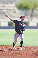 Aidan Morrison (51), from Kennewick, Washington, while playing for the Giants during the Under Armour Baseball Factory Recruiting Classic at Red Mountain Baseball Complex on December 29, 2017 in Mesa, Arizona. (Zachary Lucy/Four Seam Images)