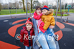 Jane, Kerrisk and Gregory Daly enjoying the Tralee town park on Sunday.