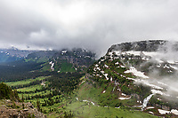 Foggy skies along Going to the Sun Road, Glacier National Park, Wyoming