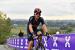 Michal Kwiatkowski (POL) Ineos Grenadiers on the final ascent of the Paterberg during the Tour of Flanders 2020 running 244km from Antwerp to Oudenaarde, Belgium. 18th October 2020.  <br /> Picture: Serge Waldbillig   Cyclefile<br /> <br /> All photos usage must carry mandatory copyright credit (© Cyclefile   Serge Waldbillig)