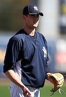 February 25, 2010:  Pitcher Andrew Brackman of the New York Yankees during practice at Legends Field in Tampa, FL.  Photo By Mike Janes/Four Seam Images