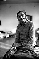 A Bosnian man at the Varazdin refugee camp in the winter of 1992. <br /> <br /> In 1992 while volunteering at the Varazdin refugee camp Panos photographer Bjoern Steinz met and became close to Elvis, a Bosnian Muslim refugee, and his family. They shared the hardships of camp life together which Steinz documented. While the prints were archived for many years two of the images always returned to Bjoern's thoughts. 25 years later he set out to try and find out what had happened to Elvis and his family in the intervening years. Modern social media made the task surprisingly easy and they were reunited in Hadzici where Elvis now lives with his family.