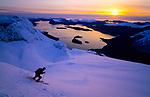 Ski descent of Eggja, Sunnmore alps, Norway, April 2006.
