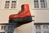 Shoe store shopfront, Camden High Street, London.