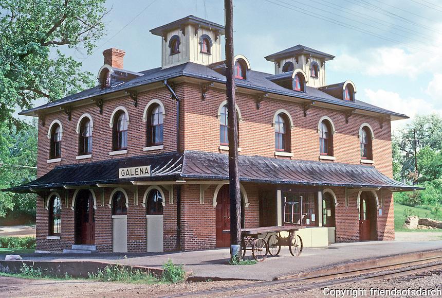 Galena: Railroad Depot. Photo '77.
