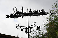 BNPS.co.uk (01202 558833)<br /> Pic: ZacharyCulpin/BNPS<br /> <br /> Pictured: Graham's London design<br /> <br /> Something in the wind..<br /> <br /> While Covid caused much of the world to slow down, business has been booming for weathervane maker Graham Smith.<br /> <br /> The former precision engineer has been so busy he has been working seven days a week and has had to close his books to new orders.<br /> <br /> Graham hand-crafts all his weathervanes, creating intricate designs and can even recreate families or significant events.<br /> <br /> With people stuck at home in lockdown and looking at DIY and home improvements, he said he has had his busiest year.