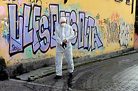 - Epidemia di virus Covid-19 in Italia, intervento straordinario di sanificazione con liquido disinfettante delle strade di Milano<br /> <br /> - Covid-19 virus epidemic in Italy, extraordinary intervention of sanitization with disinfectant liquid of Milan city streets