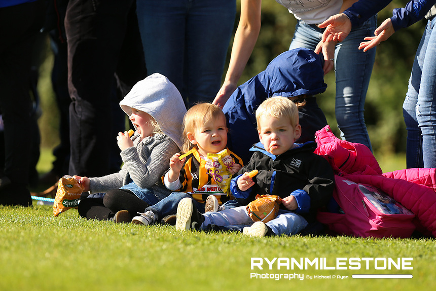 EVENT:<br /> Mid Tipperary Senior Hurling Final<br /> Upperchurch-Drombane vs Drom-Inch<br /> Sunday 29th September 2019,<br /> Littleton, Tipperary<br /> <br /> CAPTION:<br /> Young Upperchurch-Drombane fans during the game.<br /> <br /> Photo By: Michael P Ryan