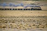 Steam train near Fitz Roy, Argentina