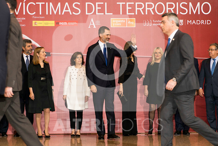 "King Felipe VI of Spain during the concert ""In Memoriam"" in honor of the victims of terrorism at  Auditorio Nacional de Musica in Madrid. March 08, 2017. (ALTERPHOTOS/Borja B.Hojas)"