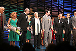 """Dick Latessa, Kristin Chenoweth, Neil Simon, Sean Hayes, Hal David, Rob Ashford.taking a bow on the  Opening Night Broadway performance Curtain Call for """"PROMISES, PROMISES"""" at the Broadway Theatre, New York City..April 25, 2010."""