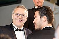 Laurent Ruquier arrive sur le tapis rouge pour la projection du film 'Juste la fin du monde' lors du 69ème Festival du Film à Cannes le jeudi 19 mai 2016.