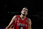 Serbia´s Bjelica during FIBA Basketball World Cup Spain 2014 final match between United States and Serbia at `Palacio de los deportes´ stadium in Madrid, Spain. September 14, 2014. (ALTERPHOTOSVictor Blanco)