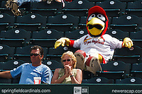 Cardinals even relax to enjoy the game April 20th, 2010; Midland Texas Rockhounds vs The Springfield Cardinals at Hammons Field in Springfield Missouri.  The Cardinals won in the 9th inning breaking a 1-1 tie.